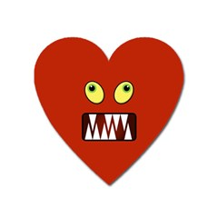 Funny Monster Face Heart Magnet by linceazul