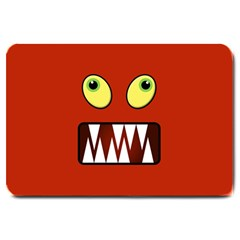 Funny Monster Face Large Doormat  by linceazul