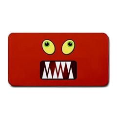Funny Monster Face Medium Bar Mats by linceazul