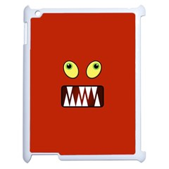 Funny Monster Face Apple Ipad 2 Case (white) by linceazul