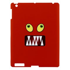 Funny Monster Face Apple Ipad 3/4 Hardshell Case by linceazul