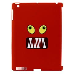 Funny Monster Face Apple Ipad 3/4 Hardshell Case (compatible With Smart Cover) by linceazul