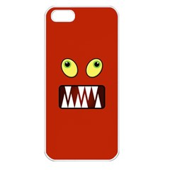 Funny Monster Face Apple Iphone 5 Seamless Case (white) by linceazul