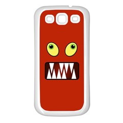 Funny Monster Face Samsung Galaxy S3 Back Case (white) by linceazul