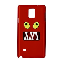 Funny Monster Face Samsung Galaxy Note 4 Hardshell Case by linceazul