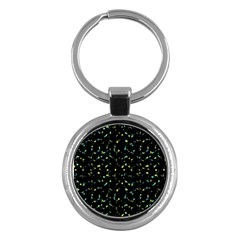 Splatter Abstract Dark Pattern Key Chains (round)  by dflcprints