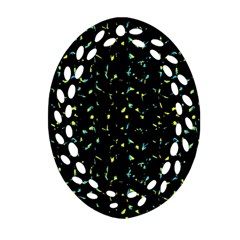 Splatter Abstract Dark Pattern Ornament (oval Filigree) by dflcprints