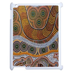 Aboriginal Traditional Pattern Apple Ipad 2 Case (white) by Onesevenart