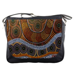 Aboriginal Traditional Pattern Messenger Bags by Onesevenart
