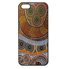 Aboriginal Traditional Pattern Apple Iphone 5 Seamless Case (black) by Onesevenart
