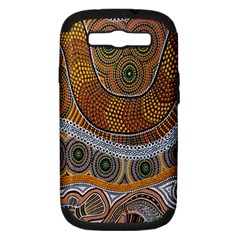 Aboriginal Traditional Pattern Samsung Galaxy S Iii Hardshell Case (pc+silicone) by Onesevenart