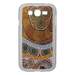 Aboriginal Traditional Pattern Samsung Galaxy Grand Duos I9082 Case (white) by Onesevenart