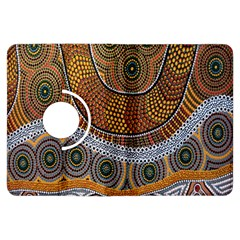 Aboriginal Traditional Pattern Kindle Fire Hdx Flip 360 Case by Onesevenart
