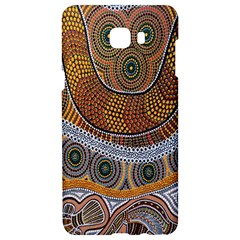 Aboriginal Traditional Pattern Samsung C9 Pro Hardshell Case  by Onesevenart