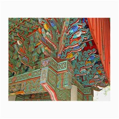 Traditional Korean Painted Paterns Small Glasses Cloth by Onesevenart