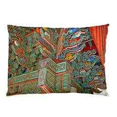 Traditional Korean Painted Paterns Pillow Case by Onesevenart
