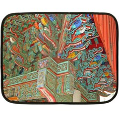 Traditional Korean Painted Paterns Double Sided Fleece Blanket (mini)  by Onesevenart