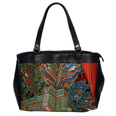 Traditional Korean Painted Paterns Office Handbags by Onesevenart