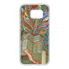 Traditional Korean Painted Paterns Samsung Galaxy S7 Edge White Seamless Case by Onesevenart