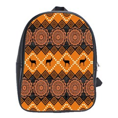 Traditiona  Patterns And African Patterns School Bag (large) by Onesevenart