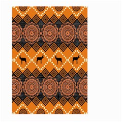 Traditiona  Patterns And African Patterns Large Garden Flag (two Sides) by Onesevenart