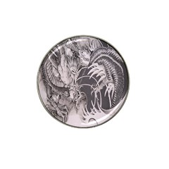 Chinese Dragon Tattoo Hat Clip Ball Marker by Onesevenart