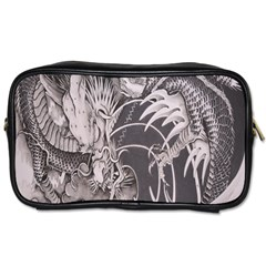 Chinese Dragon Tattoo Toiletries Bags 2 Side by Onesevenart