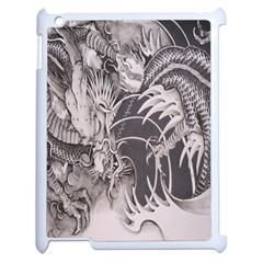 Chinese Dragon Tattoo Apple Ipad 2 Case (white) by Onesevenart