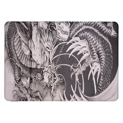 Chinese Dragon Tattoo Samsung Galaxy Tab 8 9  P7300 Flip Case by Onesevenart