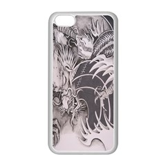 Chinese Dragon Tattoo Apple Iphone 5c Seamless Case (white) by Onesevenart