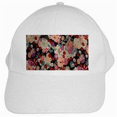 Japanese Ethnic Pattern White Cap by Onesevenart