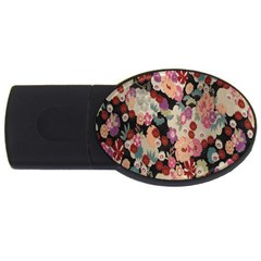 Japanese Ethnic Pattern Usb Flash Drive Oval (4 Gb) by Onesevenart