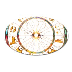 Zodiac  Institute Of Vedic Astrology Oval Magnet