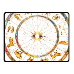 Zodiac  Institute Of Vedic Astrology Fleece Blanket (small) by Onesevenart