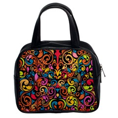Art Traditional Pattern Classic Handbags (2 Sides) by Onesevenart