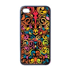 Art Traditional Pattern Apple Iphone 4 Case (black) by Onesevenart