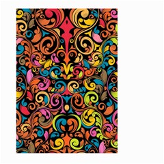 Art Traditional Pattern Large Garden Flag (two Sides) by Onesevenart