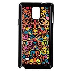 Art Traditional Pattern Samsung Galaxy Note 4 Case (black) by Onesevenart