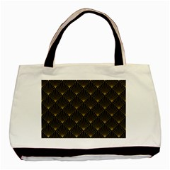 Abstract Stripes Pattern Basic Tote Bag by Onesevenart