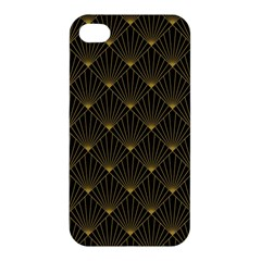 Abstract Stripes Pattern Apple Iphone 4/4s Premium Hardshell Case by Onesevenart