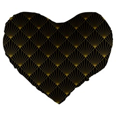 Abstract Stripes Pattern Large 19  Premium Heart Shape Cushions by Onesevenart