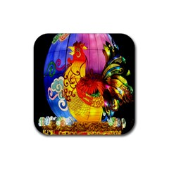 Chinese Zodiac Signs Rubber Square Coaster (4 Pack)  by Onesevenart