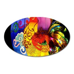 Chinese Zodiac Signs Oval Magnet by Onesevenart