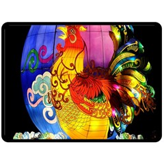 Chinese Zodiac Signs Fleece Blanket (large)  by Onesevenart
