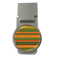 Mexican Pattern Money Clips (round)  by Onesevenart