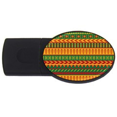 Mexican Pattern Usb Flash Drive Oval (2 Gb) by Onesevenart