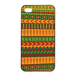 Mexican Pattern Apple Iphone 4/4s Seamless Case (black) by Onesevenart