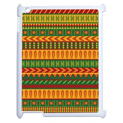 Mexican Pattern Apple Ipad 2 Case (white) by Onesevenart