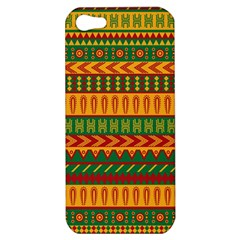 Mexican Pattern Apple Iphone 5 Hardshell Case by Onesevenart