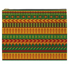 Mexican Pattern Cosmetic Bag (xxxl)  by Onesevenart